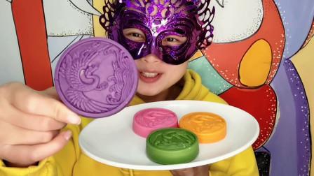 "DIY创意手工""闲云野鹤巧克力"",漂亮又美味,小姐姐好喜欢吃"