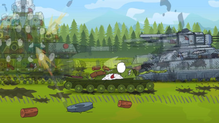 坦克世界动画:丧失理智的KV44该如何应对?寻踪觅迹的100LT!