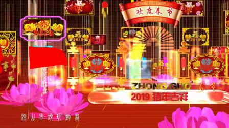 2019 花开富贵猪年吉祥