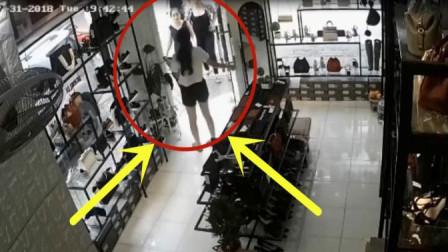 女子在店里看店,下一秒悲剧却发生