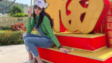 张柏芝晒最新美照,身材恢复如少女,开心比耶心情好!
