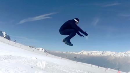 牛人打造了一款雪地鞋,能代替滑雪板,外观很