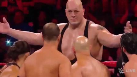 WWE回顾:混战升级大秀哥遭10多人群殴,但巨兽王不是白叫的!