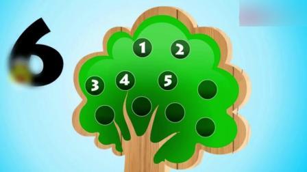 创意早教: 苹果树小动画 教给宝宝学英语 认识颜色 学数数