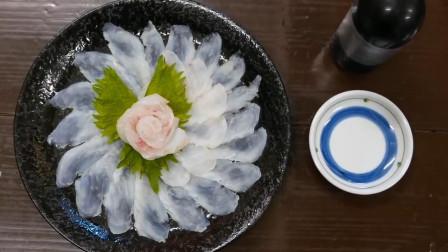 日本小店,生鱼片刀功秀,摆盘很漂亮