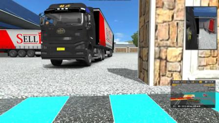 大货车游戏:开着我的J6大货车车头去接车厢 网友:拉的什么?
