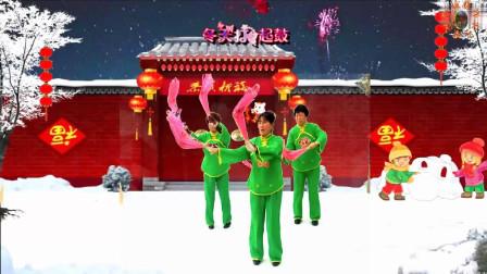 特效广场舞《中国鼓》摇头荷花池健身队