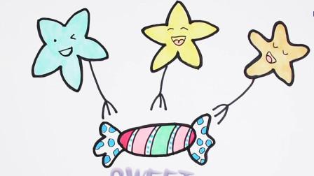 简笔画食物糖果简笔画图片大全儿童画幼乐园画画作业简笔画学英语