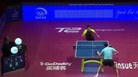 """樊振东扑出整个身子竟拉出一板""""香蕉球"""",许昕:乒坛贝克汉姆?"""