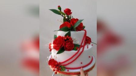 丝网花蛋糕