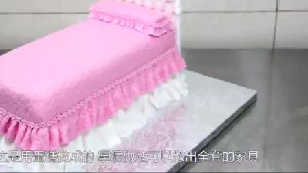 芭比公主的床可以吃?原来是用蛋糕做成的!这创意我给100分