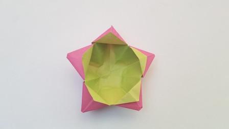 折纸王子五角星收纳盒,简单好玩,收藏留着教孩子