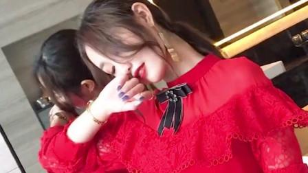 女神范衣服新年小香风,秋冬女装2019新款,春装红裙子气质红色连衣裙