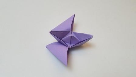 折纸王子蝴蝶翅膀船,简单好玩,收藏留着教孩子
