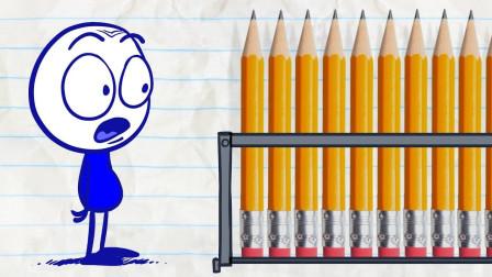 搞笑铅笔画小人:进入数字世界居然没有密码?游戏