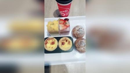 蛋挞+泡芙+芒果布丁和草莓布丁