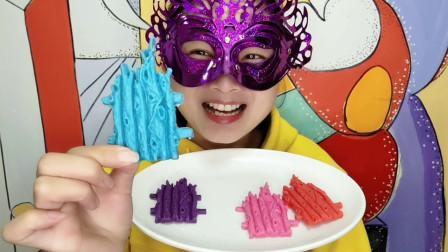 """小姐姐试吃""""篱笆巧克力"""",DIY创意手工甜点,好特别且美味"""