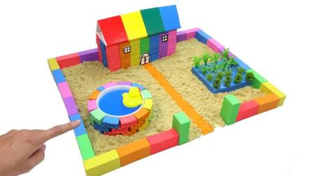 孩子们的手工DIY乐园,陪孩子们用太空沙帮助小猪佩奇建造房子!