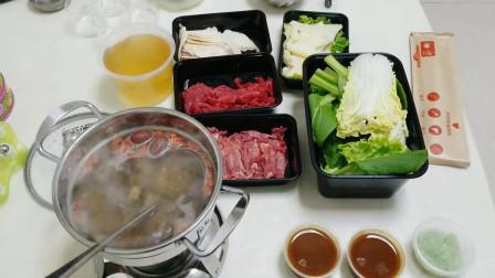 """外卖168元""""潮汕牛肉火锅"""",胸口朥、牛舌和牛黄喉,真的太好吃了"""
