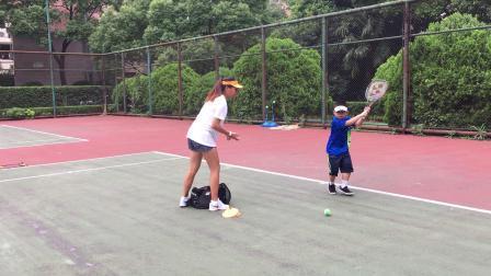 【7岁】7-2哈哈暑假网球训练:正手反手连续击球IMG_0687.MOV