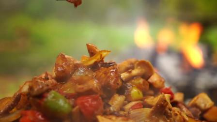 烹饪美食之蘑菇炒鸡肉