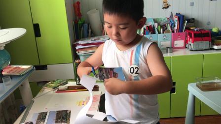 【7岁】8-10哈哈自己制作小报,剪纸照片拼图IMG_8358.MOV