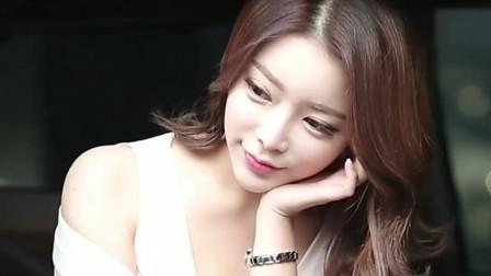 韩国时尚美女车模,有种不食人间烟火气息的小