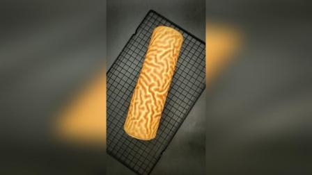 虎皮蛋糕怎么烤出虎纹的纹路详解视频教程