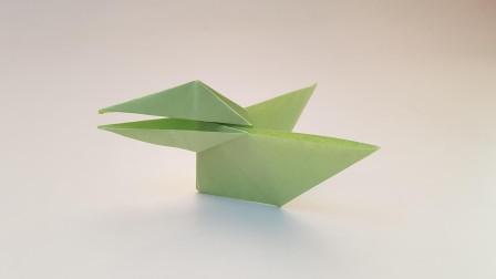 折纸王子啄东西的乌鸦,简单好玩,收藏留着教孩子