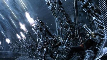 爱剪辑-《黑客帝国3:矩阵革命》人类装甲大战机械乌贼