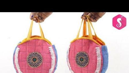 创意手工: 废衣服DIY收纳袋的缝纫工艺
