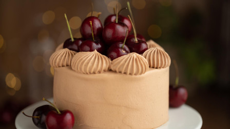 樱桃换种吃法,和巧克力奶油蛋糕搭配,诱人美味不可挡