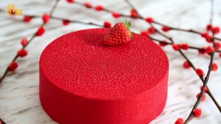 Cedric Grolet草莓慕斯蛋糕:晶莹闪亮,利落纯净