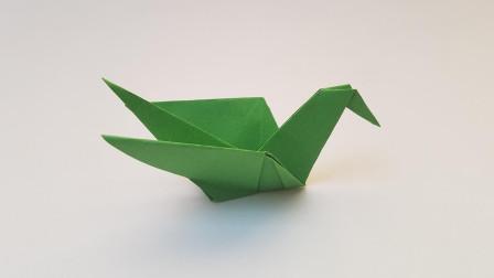 折纸王子嵌套制作的鸟,简单好玩,收藏留着教孩子
