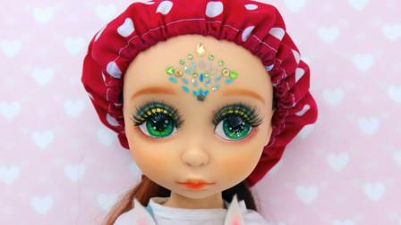 芭比娃娃装扮秀:将它重铸容颜美妆打扮成漂亮的孔雀仙子