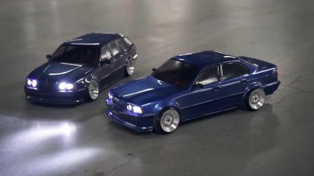 宝马E34经典轿跑 化身遥控车玩甩尾