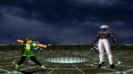 拳皇97屠蛇版:雅典娜VS黑大蛇,小萝莉大能量花式吊打BOSS蛇哥