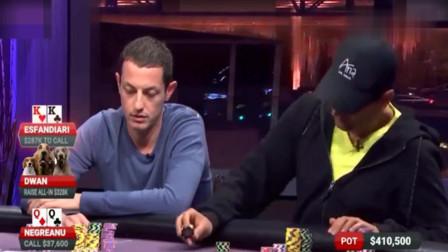 德州扑克:三大神拿强牌秒变石头人,Tom Dwan的手牌猜猜是什么