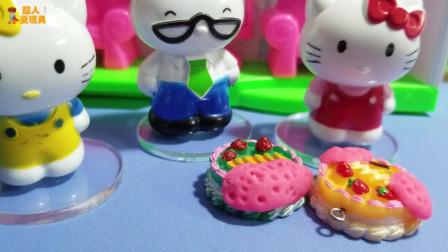 凯蒂猫玩具故事:蛋糕不能吃了,噢,好可惜啊!