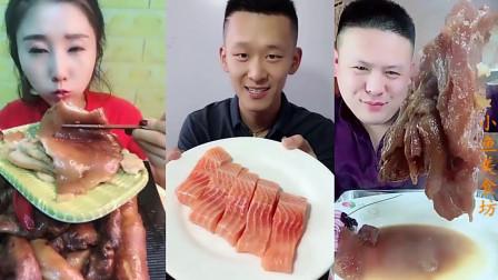 小鱼美食坊:小哥哥吃的这块肉看起来很香,大口吃的样子真馋人