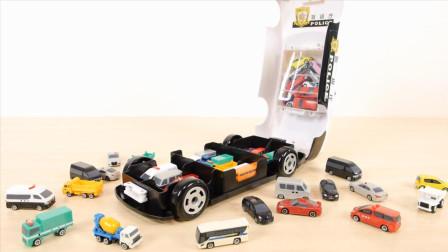 Tomica警车合金小汽车玩具评测和展示