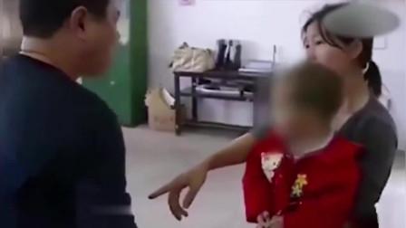大学教授和女学生生下小孩不认账,女学生抱着小孩在学校大闹!