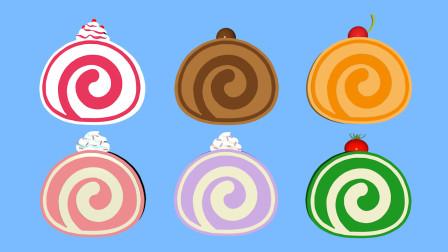 色香味俱全蛋糕卷 一起学习 1~10数字 早教 益智 感恩 爱心 祝福 健康 快乐 幸福 幸运