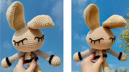 大耳朵兔子玩偶钩针教程花样