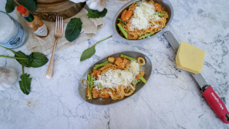 我的日常料理 第二季 教你制作意式料理-番茄海鲜意大利面