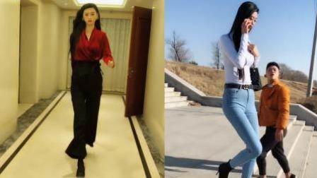 近2米高美女走红 腿长1米2买不到长裤