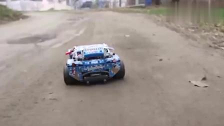 乐高改装的42077拉力赛车,不仅跑的贼快,还能玩漂移!