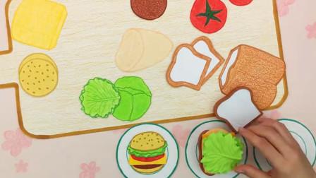 自制三明治和汉堡包 再也不怕早上饿肚子