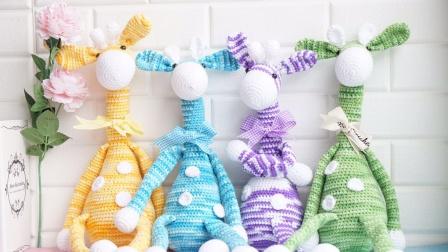 「第142集」萌系手作 迷彩长颈鹿上集娃娃钩针玩偶娃娃头视频教程钩针毛线
