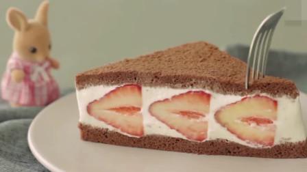 「烘焙教程」草莓巧克力三明治,让人流口水的甜点